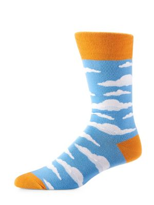 Cloud-Print Socks @...
