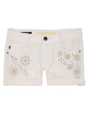 Girl's Embellished Shorts...