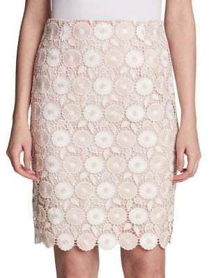 Lace Pencil Skirt @...
