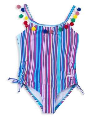 Girls' Striped One-Piece...