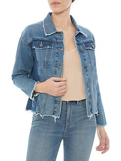 The Karlie Two-Tone Denim Jacket BLUE. Product image