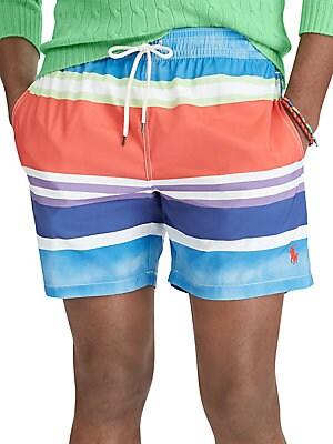 Polo Ralph Lauren - Stripe Traveler Swim Trunks