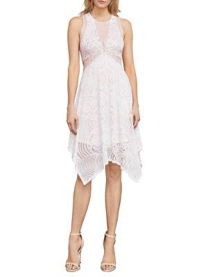 Meilani Asymmetrical Floral Lace Dress 500088056989