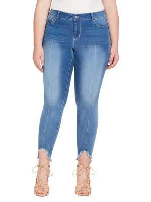 Plus Kiss Me Ankle Skinny Jeans 500088057544