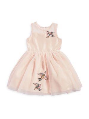 Girls Bird Mesh Dress