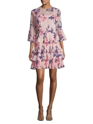 Ruffled Bell-Sleeve Dress...