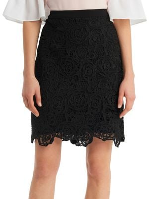 Crochet Lace Pencil Skirt...