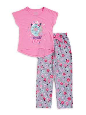Girls Donut TwoPiece Pajama Set