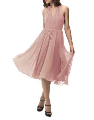 Sweetheart Halter Overlay Dress 500088070759