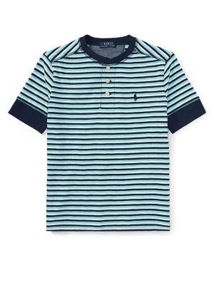 Boy's Stripe Cotton Jersey...