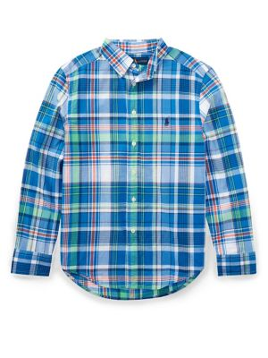 Boy's Madras Cotton Collared...