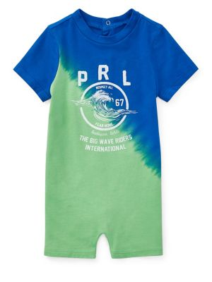 Baby Boy's Dip-Dyed Cotton...