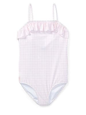 Girl's Gingham One-Piece...