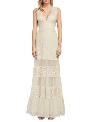 Alecia Metallic Lace Gown 500088077115