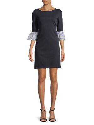 Plus Casual Bell-Cuffs Dress 500088078690