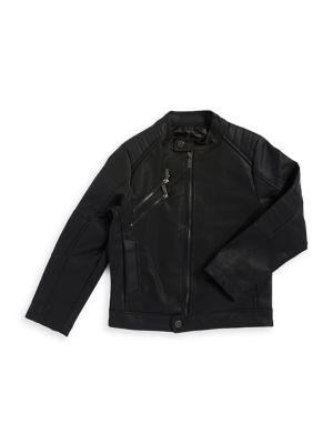 Boys' Faux Leather Jacket...