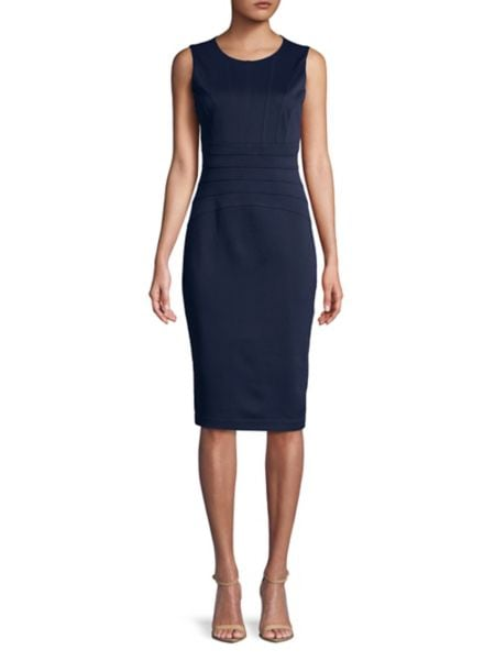 Sleeveless Ring Collar Dress by Ivanka Trump