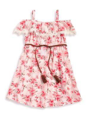 Little Girl's Floral-Print...