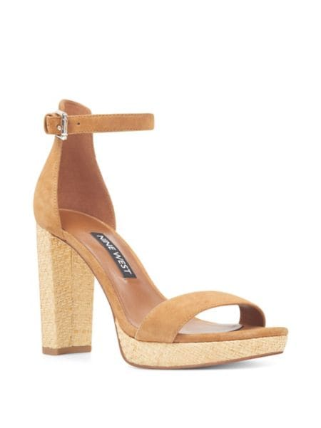 Dempsey Striped Fabric Platform Sandals by Nine West