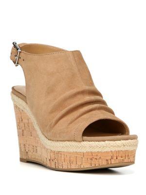 Trellis Suede Platform Sandals by Franco Sarto