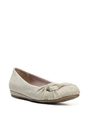 Sloane Linen Bow Ballet Flats 500088107448