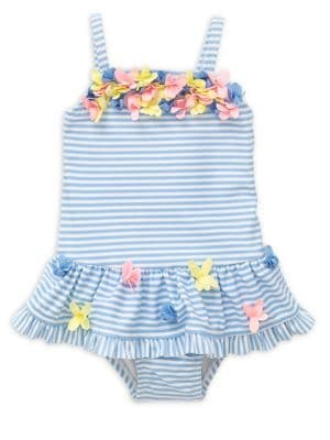 Baby Girl's Striped Floral...