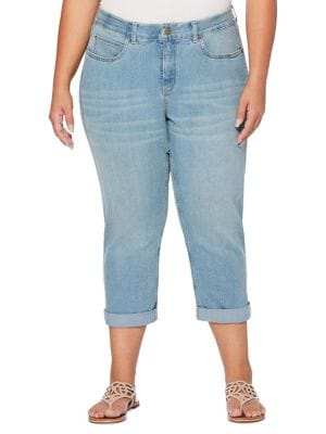 Plus Cropped Jeans 500088111853