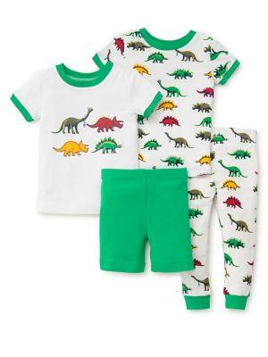 Little Boys FourPiece Dino Pajama Set