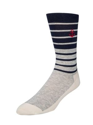 Stripe Anchor Crew Socks...