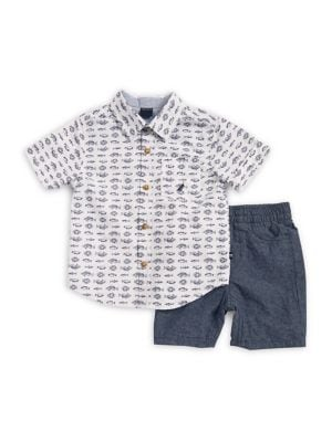 Baby Boy's Two-Piece Shirt and Shorts Set 500088118560