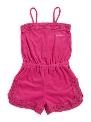 Girl's Lace-Paneled Romper...