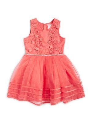 Girl's Floral Sequin Lace Dress 500088124833
