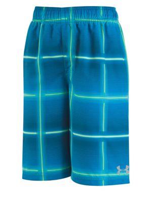 Boy's Plaid Swim Shorts...