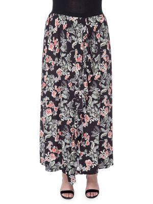 Plus Darien Midi Skirt...