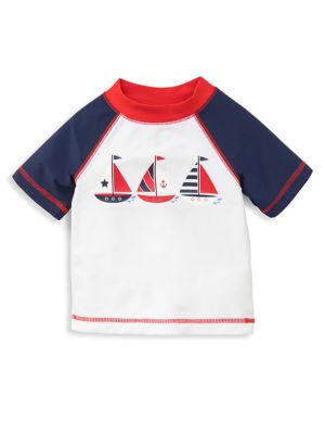 Baby Boy's Sailboat Printed...