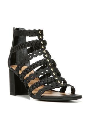 Paisley Block Heel Sandals by Franco Sarto