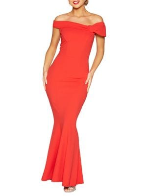 Off-the-Shoulder Mermaid Gown 500088133944