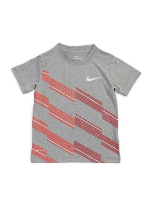 Boy's Line Graphic Short-Sleeve...