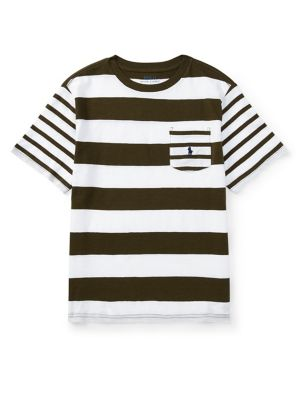 Boy's Striped Cotton...