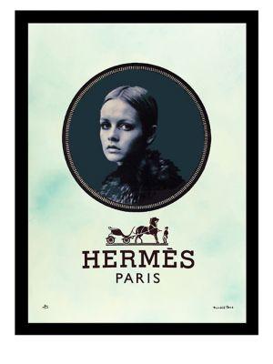 Horse and Carriage Fairchild Paris Vintage Hermes Ad Framed Wall Art