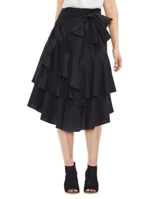 Tiered Ruffle Midi Skirt...
