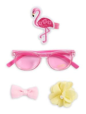 Baby Girls FourPiece Sunglass and Hair Clip Set