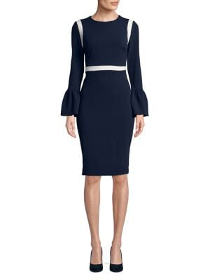 Bell-Sleeve Crewneck Dress 500088156842