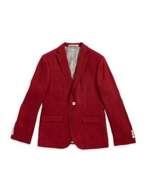 Boys Linen Seersucker Suit Jacket