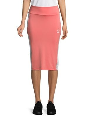Logo Pencil Skirt @...