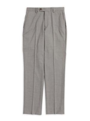 Boys Textured Suit Pants