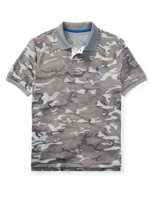 Boy's Short-Sleeve Camo Polo Shirt 500088157677