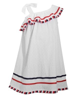 Little Girls Asymmetric Ruffle Dress