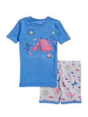 Little Girls TwoPiece Campfire Cotton Pajama Set