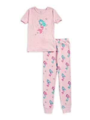 Little Girls TwoPiece Mermaid Pajama Set